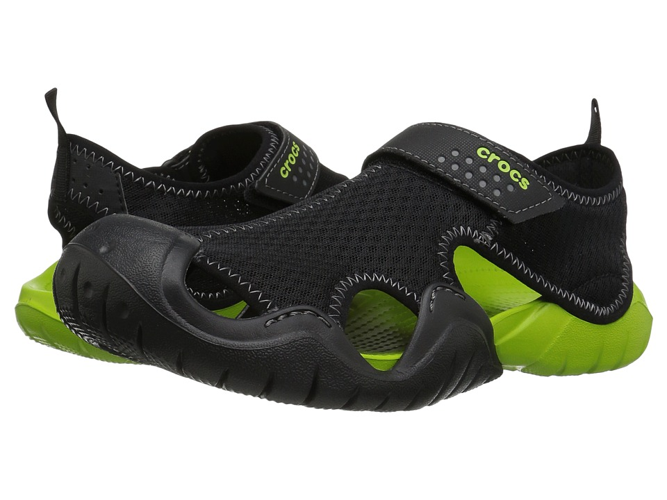 Crocs Swiftwater Sandal (Black/Volt Green) Men