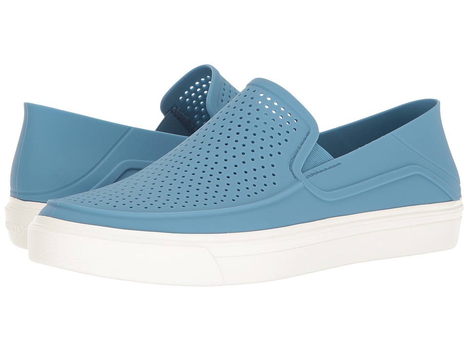 Crocs - CitiLane Roka Slip-On (Dusty Blue/White) Slip on Shoes