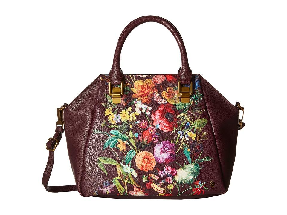 Elliott Lucca - Faro City Satchel (Black Cherry Autumn Botanica) Satchel Handbags