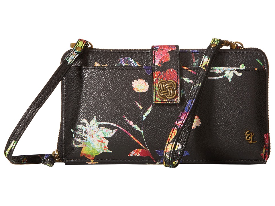 Elliott Lucca - Theo Large Smartphone Crossbody (Black Spring Botanica) Cross Body Handbags