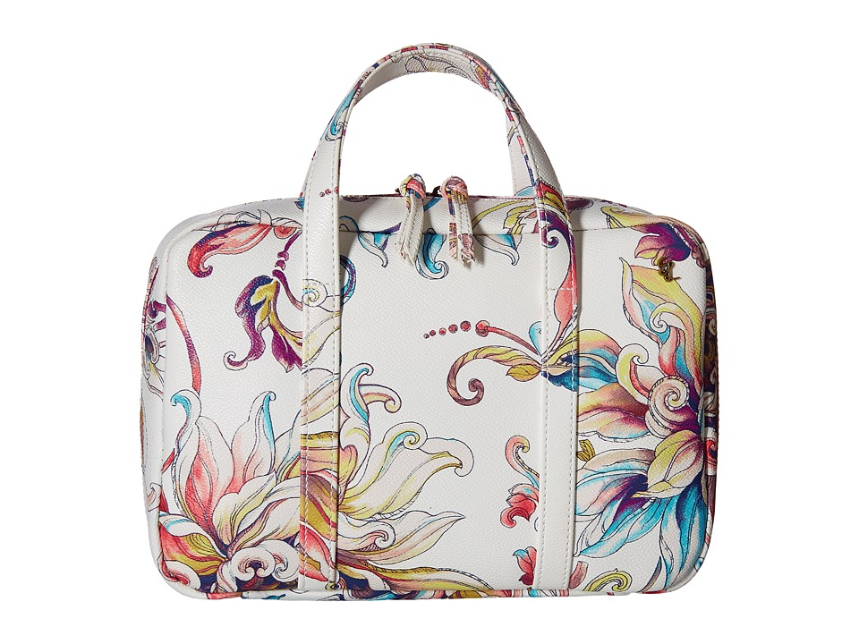 Elliott Lucca - Travel Case (White Wildflower) Handbags