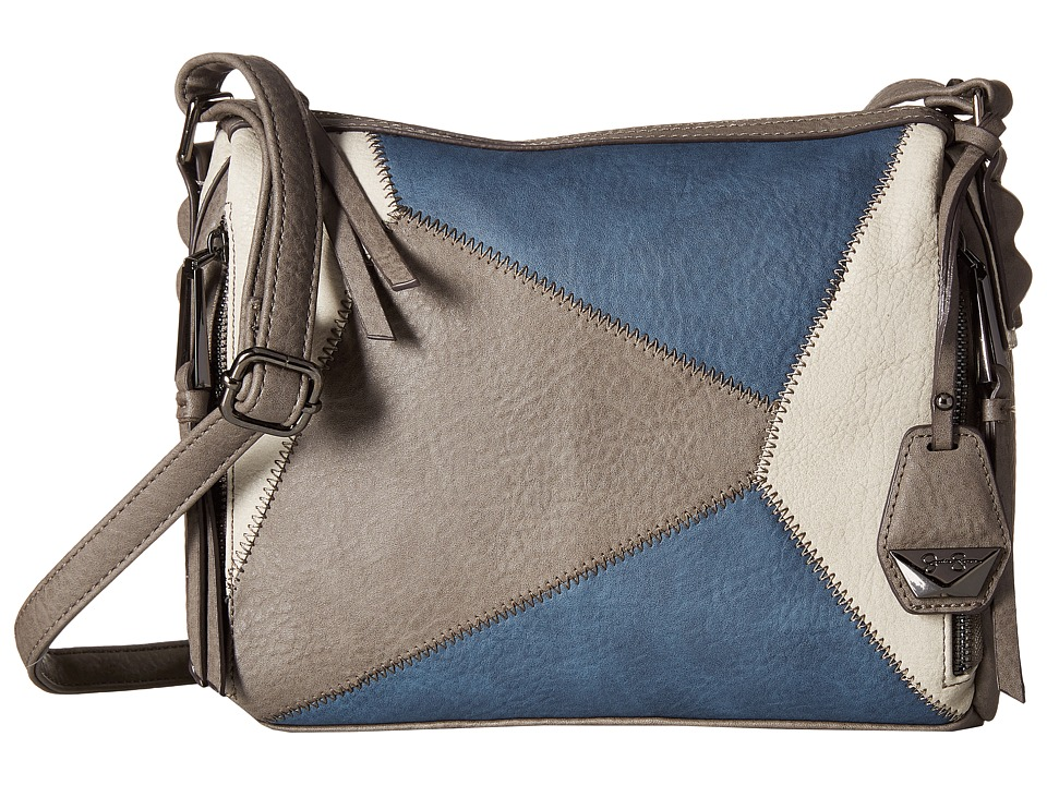 Jessica Simpson - Pamela Top Zip Crossbody (Steel/Cloud Grey/Indigo) Cross Body Handbags