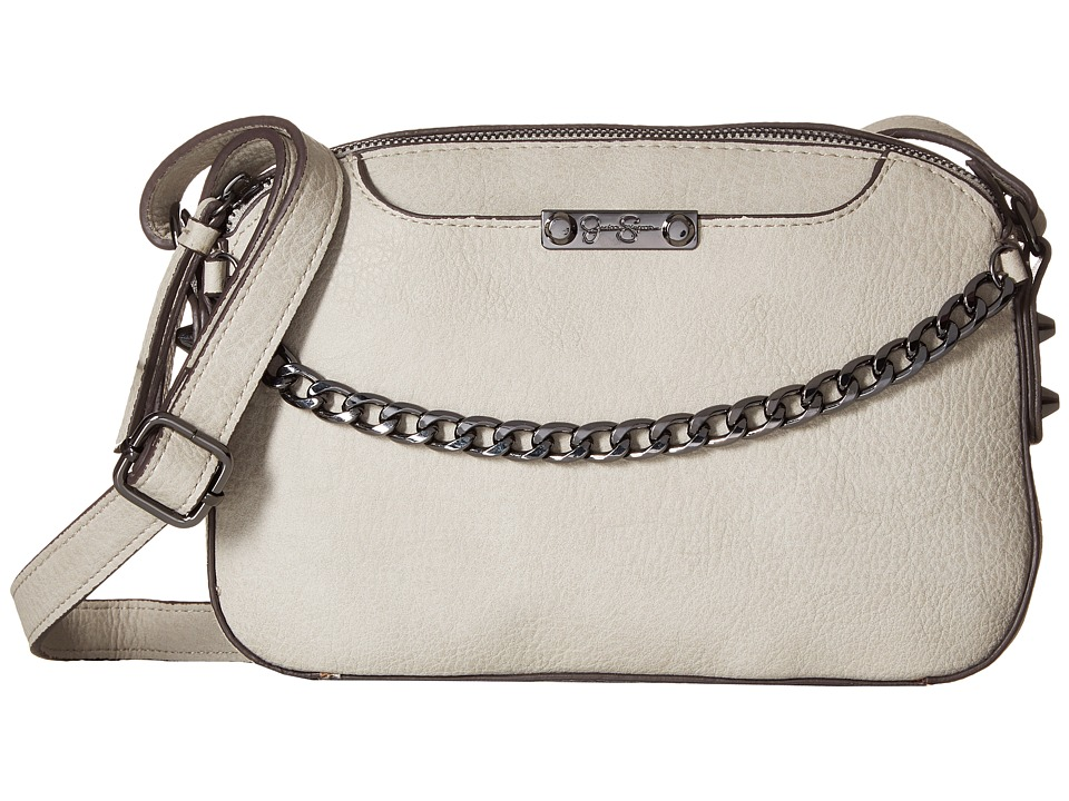 Jessica Simpson - Brixton Double Zip Crossbody (Cloud Grey) Cross Body Handbags