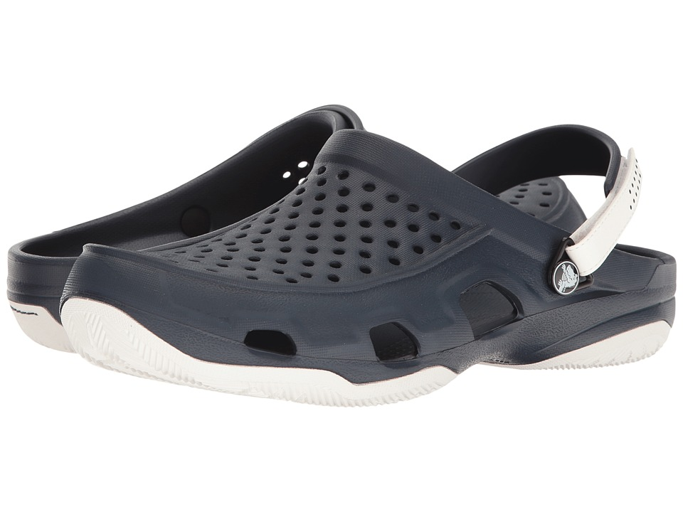 Crocs - Swiftwater Deck Clog (Navy/White) Men's Clog/Mule Shoes