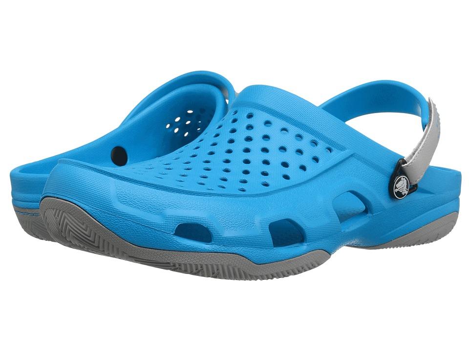Crocs - Swiftwater Deck Clog (Ocean/Light Grey) Men's Clog/Mule Shoes