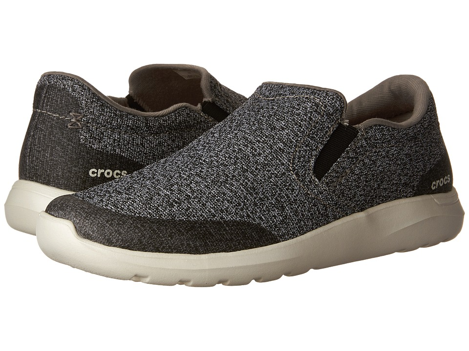 Crocs - Kinsale Static Slip-On (Charcoal/Pearl White) Men's Slip on Shoes