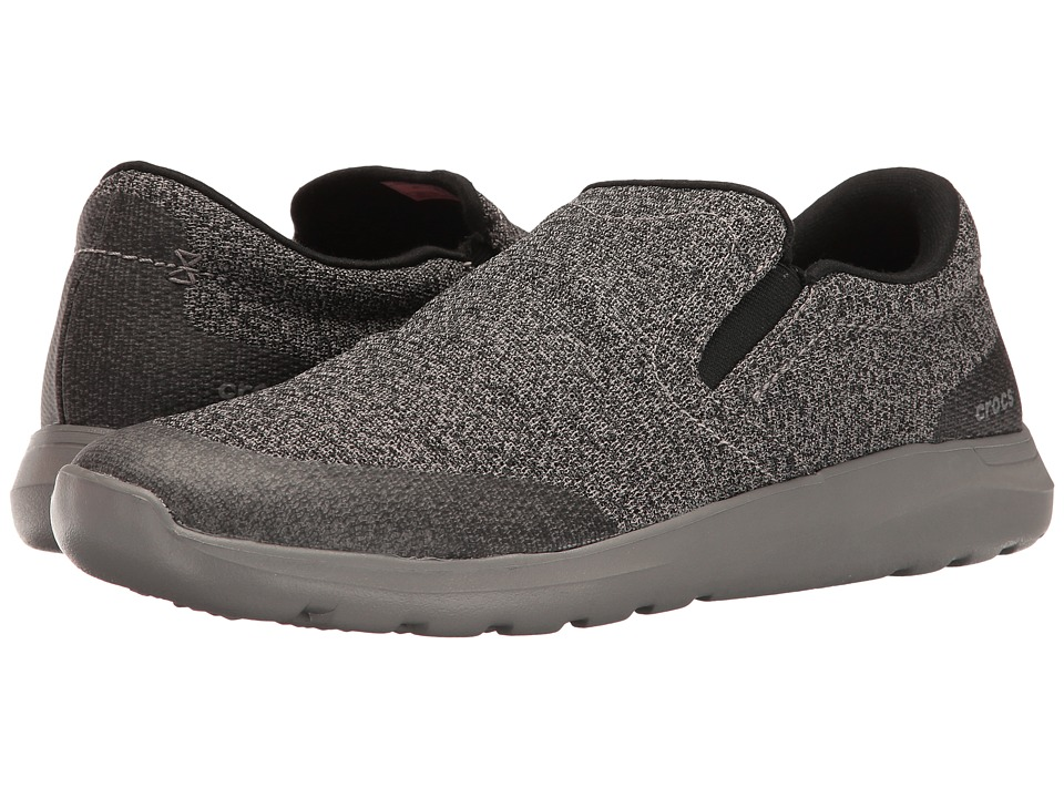 Crocs - Kinsale Static Slip-On (Black/Smoke) Men's Slip on Shoes