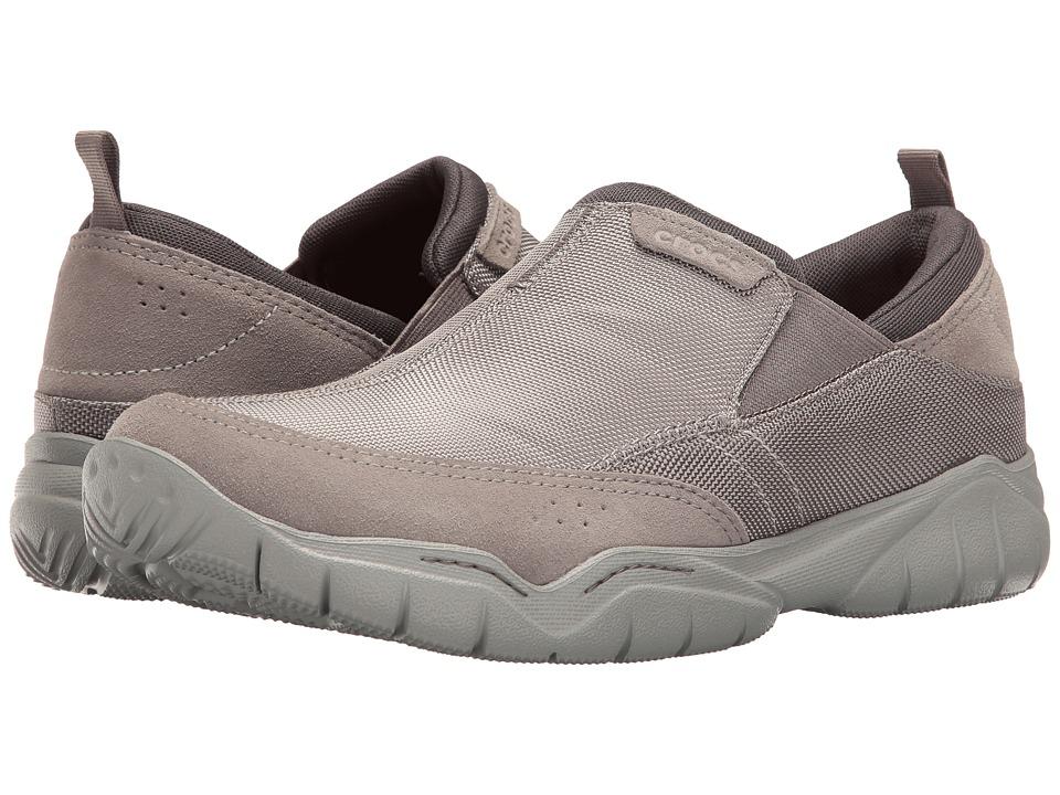 Crocs - Swiftwater Edge Moc (Charcoal/Light Grey) Men's Moccasin Shoes