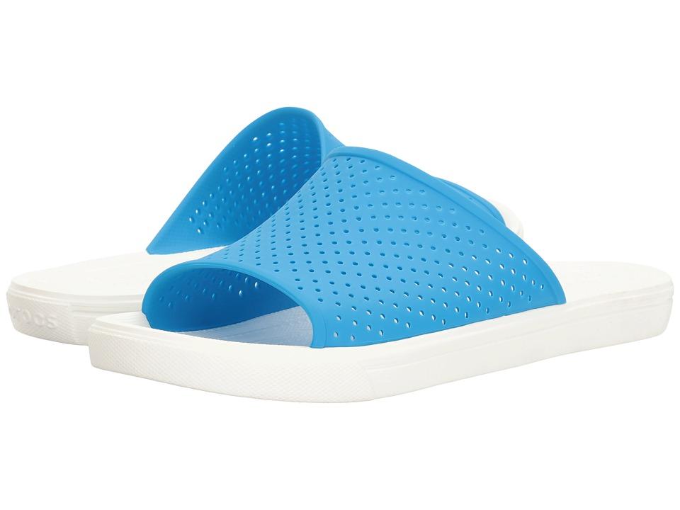 Crocs CitiLane Roka Slide (Ocean/White) Slide Shoes