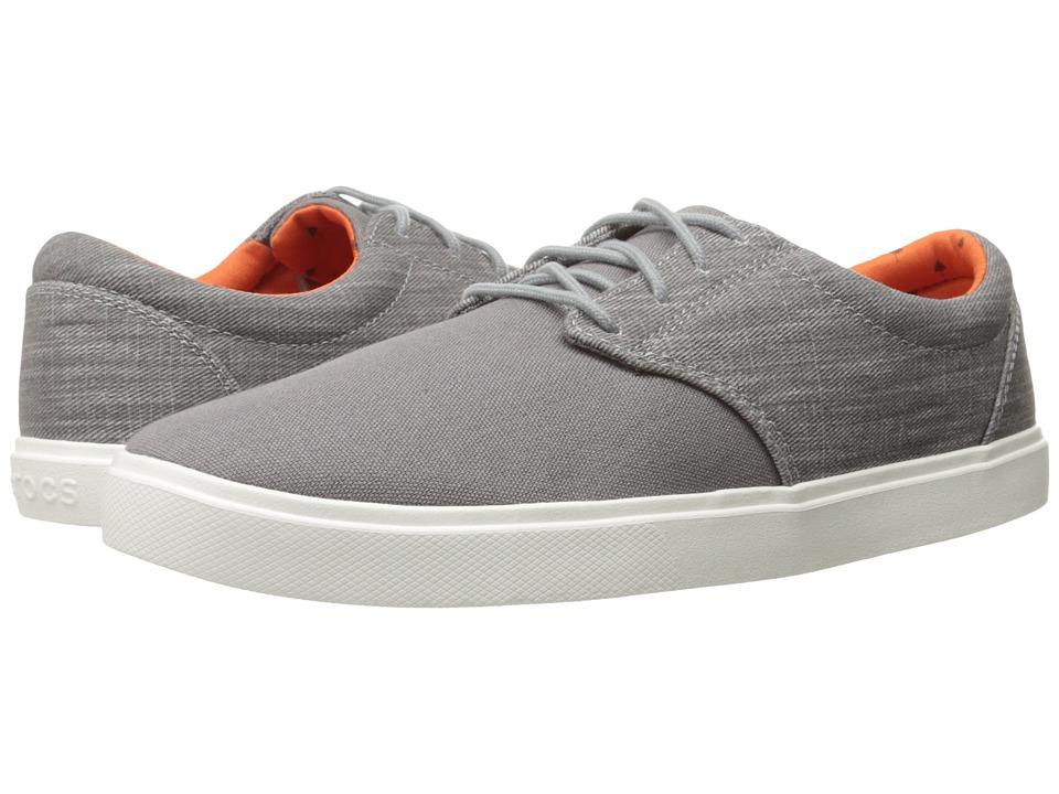 Crocs - CitiLane Canvas Lace (Charcoal/White) Men's Lace up casual Shoes