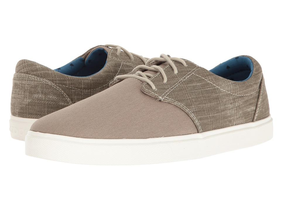 Crocs - CitiLane Canvas Lace (Khaki/White) Men's Lace up casual Shoes