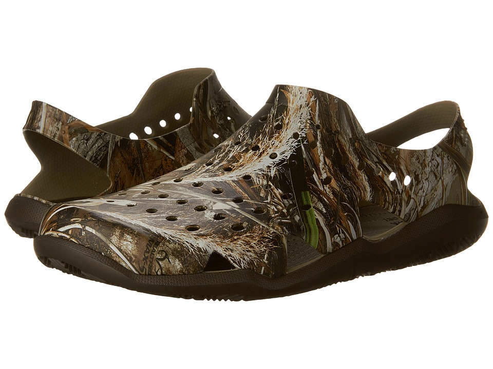 Crocs - Swiftwater Wave Realtree Max-5 (Espresso) Men's Sandals