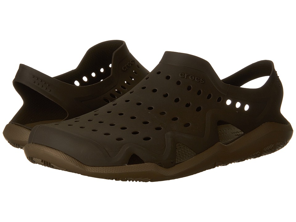 Crocs - Swiftwater Wave (Espresso/Walnut) Men's Sandals