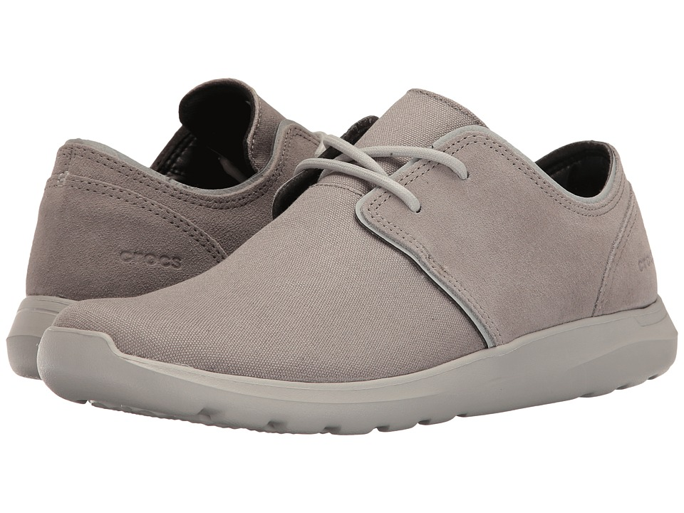 Crocs - Kinsale 2-Eye Shoe (Charcoal/Pearl White) Men's Lace up casual Shoes