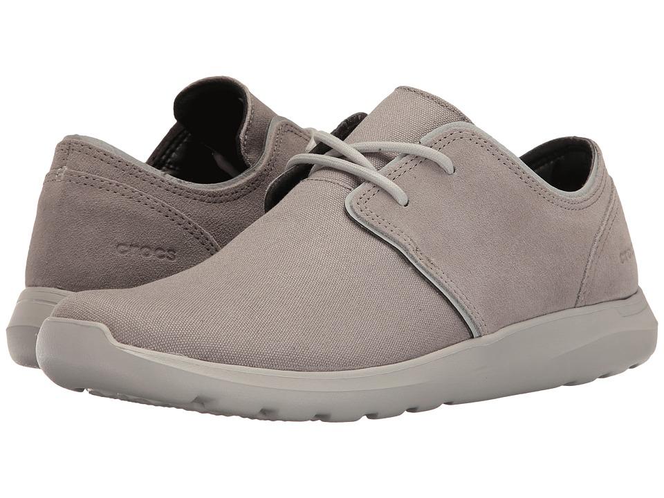 Crocs Kinsale 2-Eye Shoe (Charcoal/Pearl White) Men