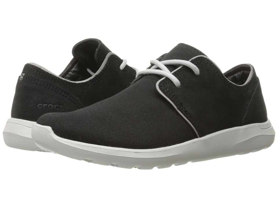 Crocs - Kinsale 2-Eye Shoe (Black/Pearl White) Men's Lace up casual Shoes