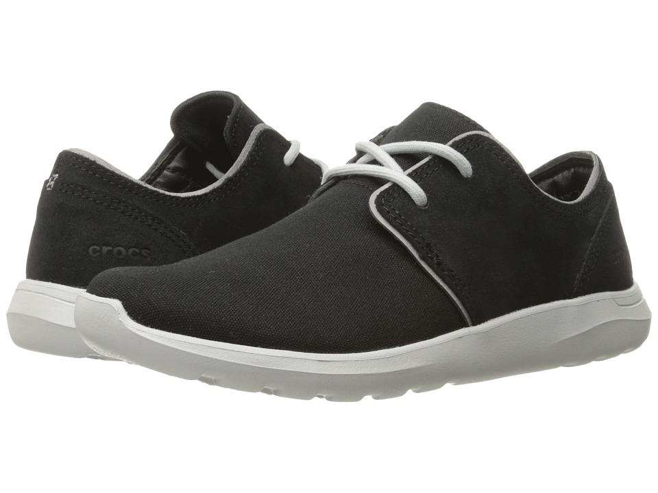 Crocs - Kinsale 2-Eye Shoe (Black/Pearl White) Men's Lace up casual Shoes
