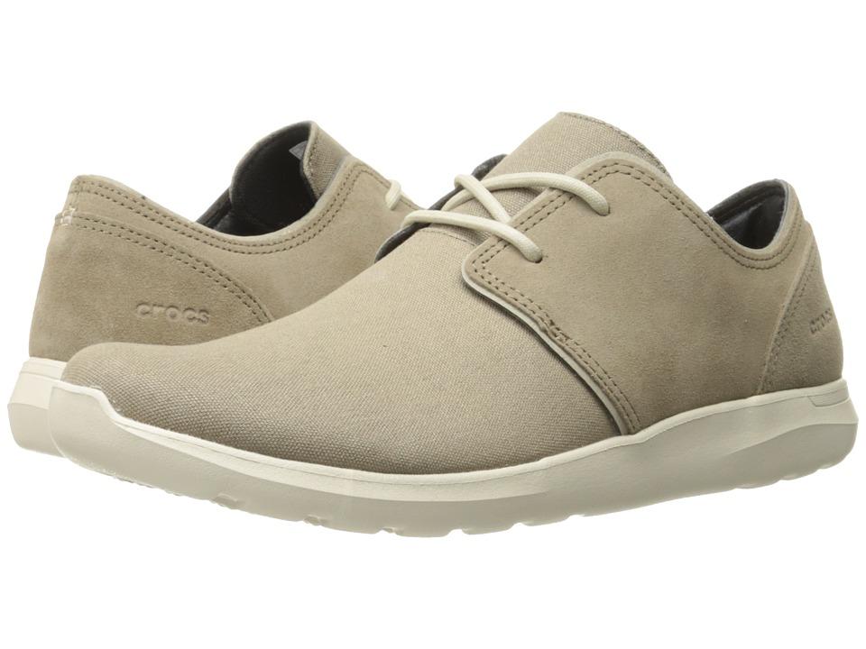 Crocs - Kinsale 2-Eye Shoe (Khaki/Stucco) Men's Lace up casual Shoes