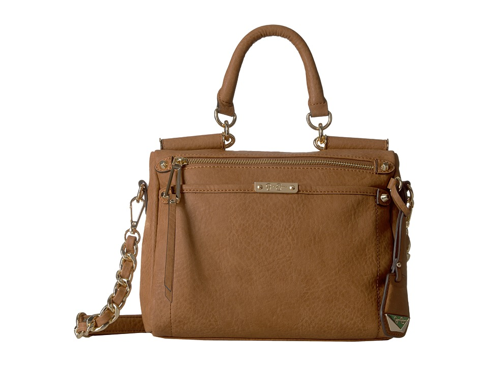 Jessica Simpson - Deven Small Frame Satchel Crossbody (Cognac) Cross Body Handbags