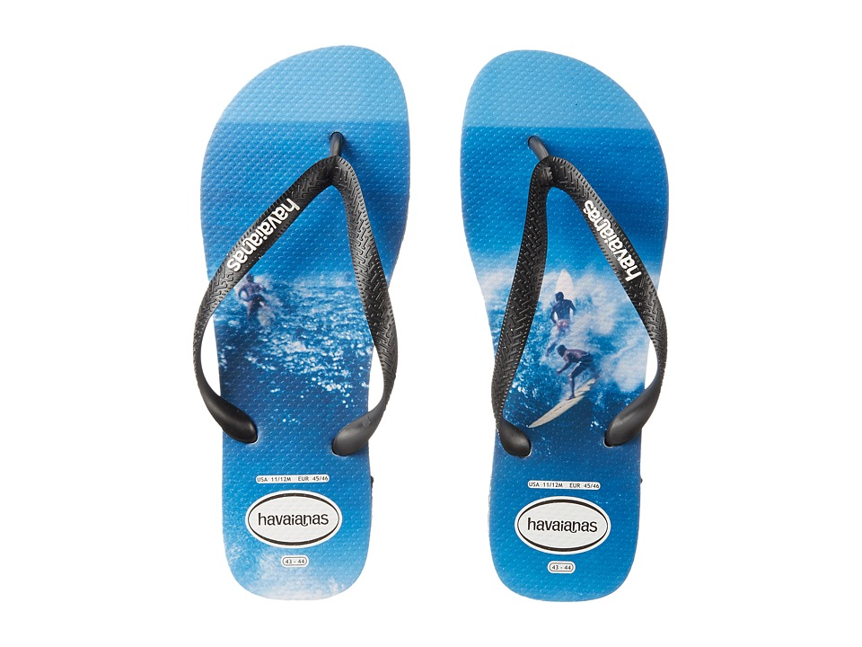 Havaianas - Top Photoprint Sandal (Black/White/Blue) Men's Sandals