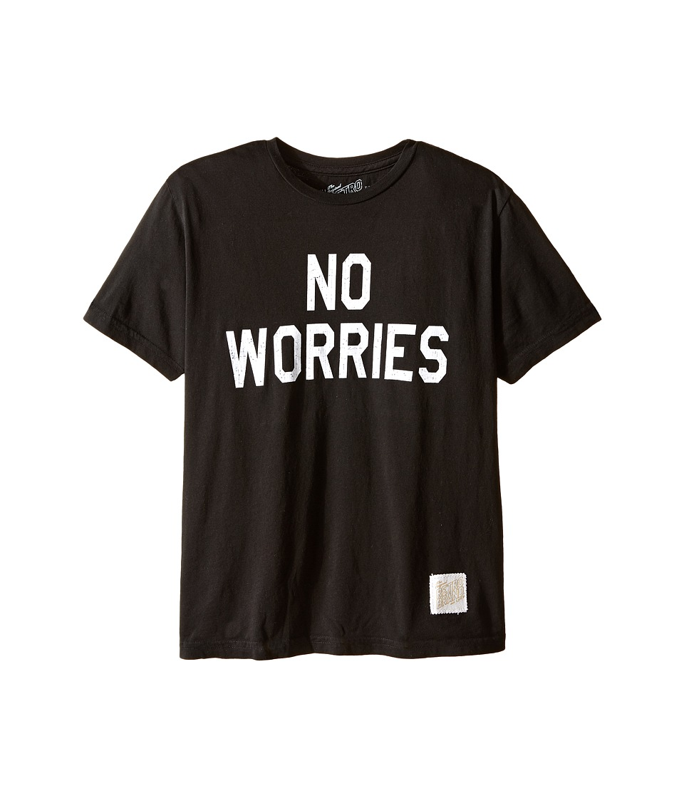 The Original Retro Brand Kids - No Worries Vintage Cotton Short Sleeve Tee (Little Kids/Big Kids) (Black) Boy's T Shirt