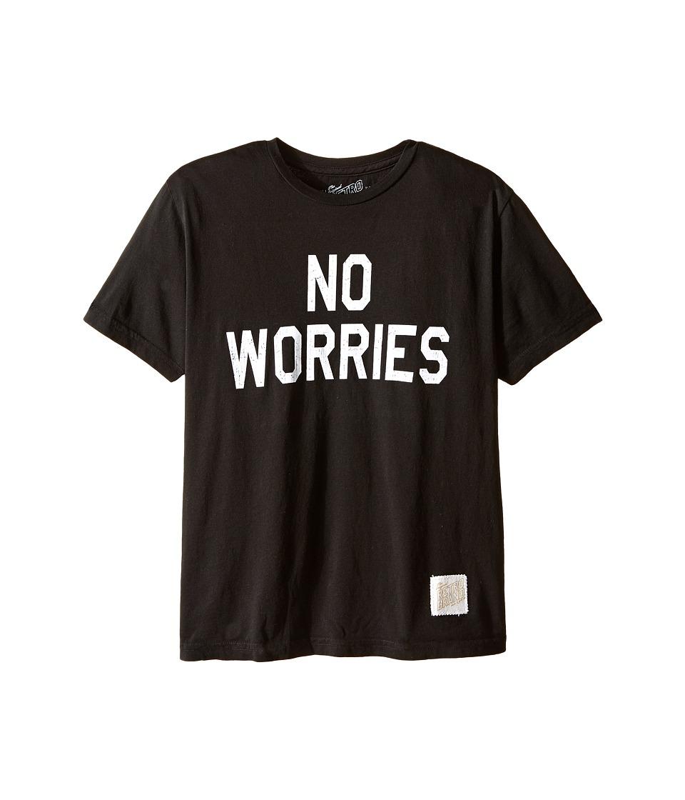 The Original Retro Brand Kids - No Worries Vintage Cotton Short Sleeve Tee (Little Kids/Big Kids) (Black) Boy's T Shirt