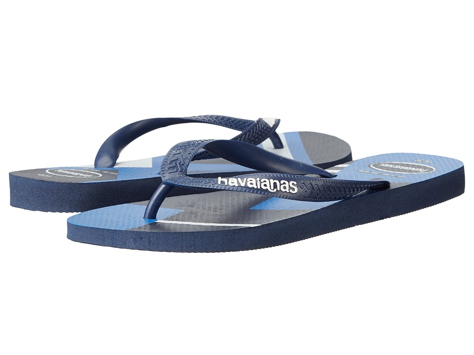 Havaianas - Trend Geo Sandal (Navy Blue/White) Men's Sandals