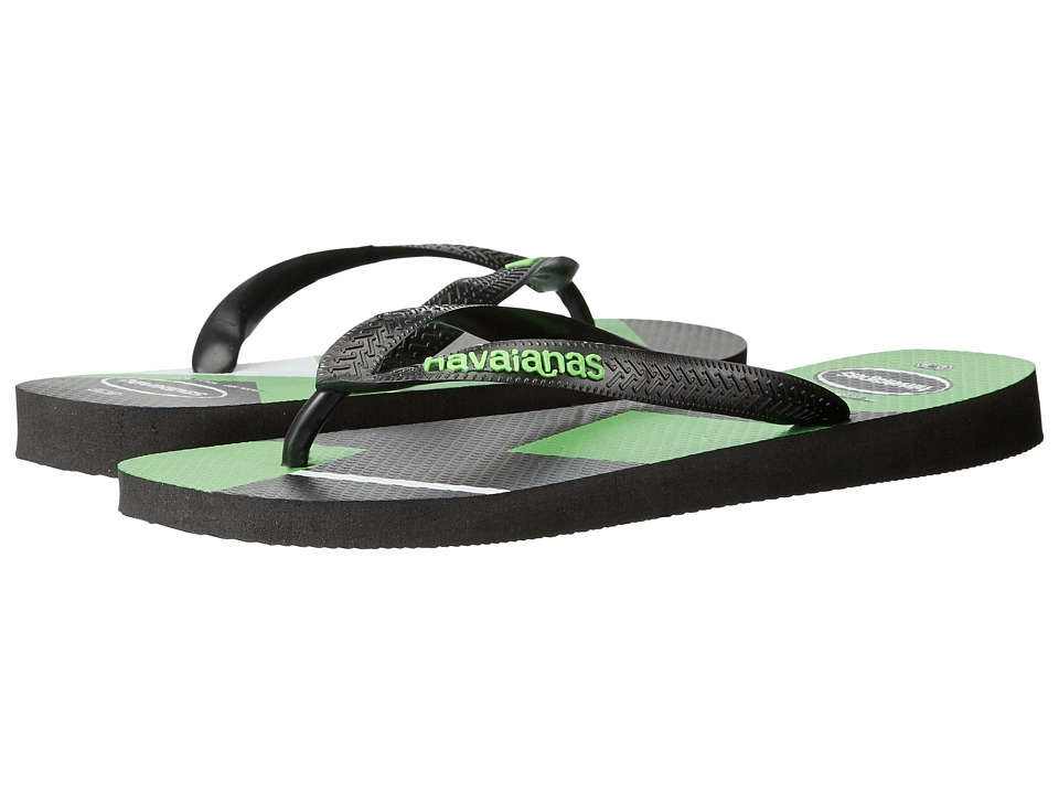 Havaianas - Trend Geo Sandal (Black/Neon Green) Men's Sandals