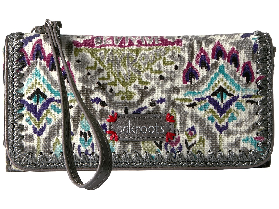 Sakroots - Artist Circle Tech Wallet Crossbody (Slate Brave Beauti) Cross Body Handbags