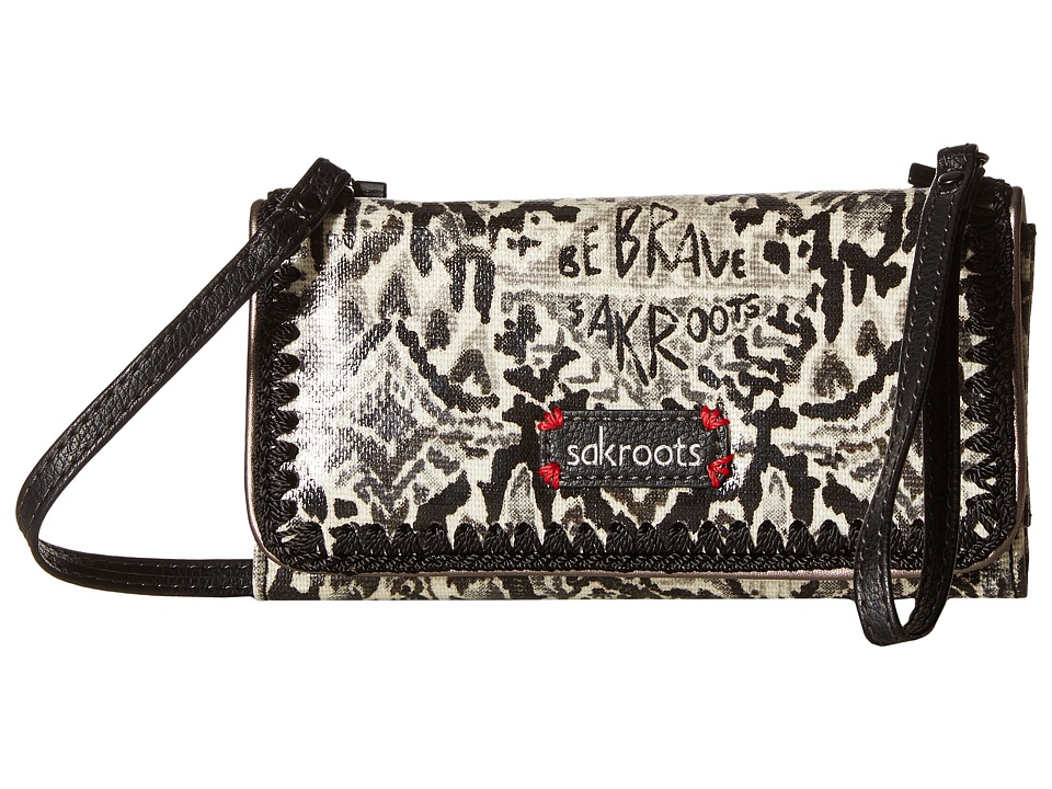 Sakroots - Artist Circle Tech Wallet Crossbody (Jet Brave Beauti) Cross Body Handbags