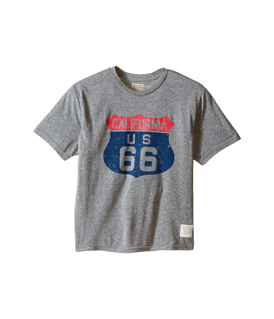 The Original Retro Brand Kids - Route 66 Streaky Tri-Blend Short Sleeve Tee (Little Kids/Big Kids) (Streaky Grey) Boy's T Shirt