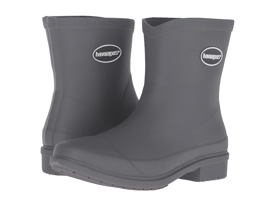 Havaianas Galochas Low Matte Rain Boot (Dark Grey) Women