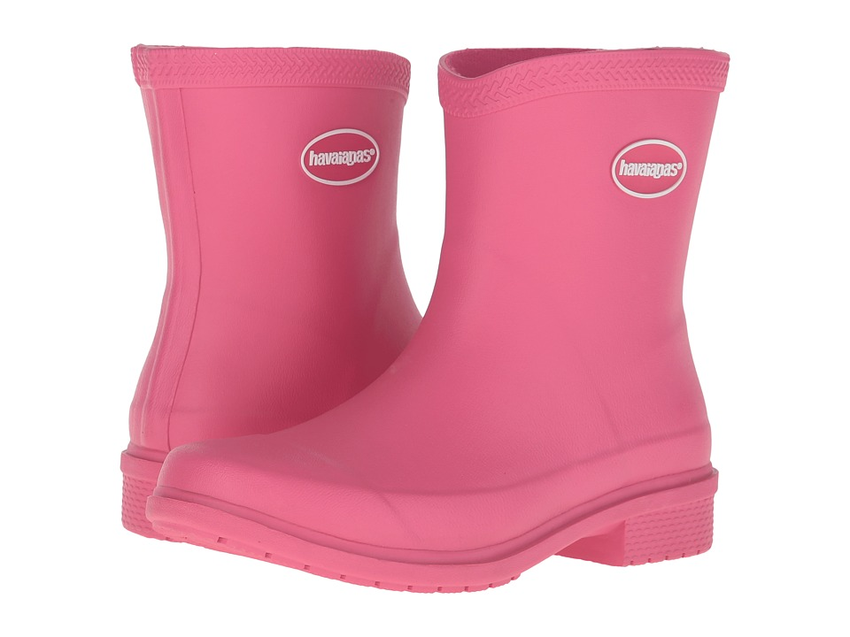 Havaianas - Galochas Low Matte Rain Boot (Rose) Women's Rain Boots