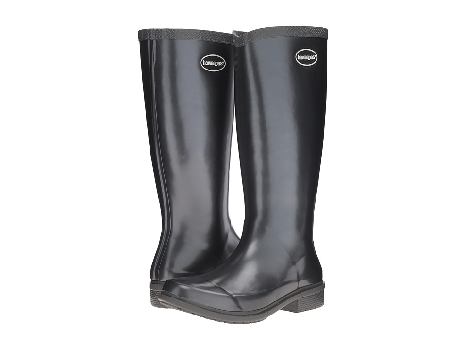 Havaianas - Galochas Hi Metallic Rain Boot (Dark Grey Metallic) Women's Rain Boots
