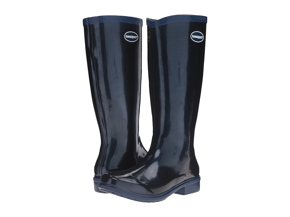 Havaianas - Galochas Hi Metallic Rain Boot (Navy Blue Metallic) Women's Rain Boots