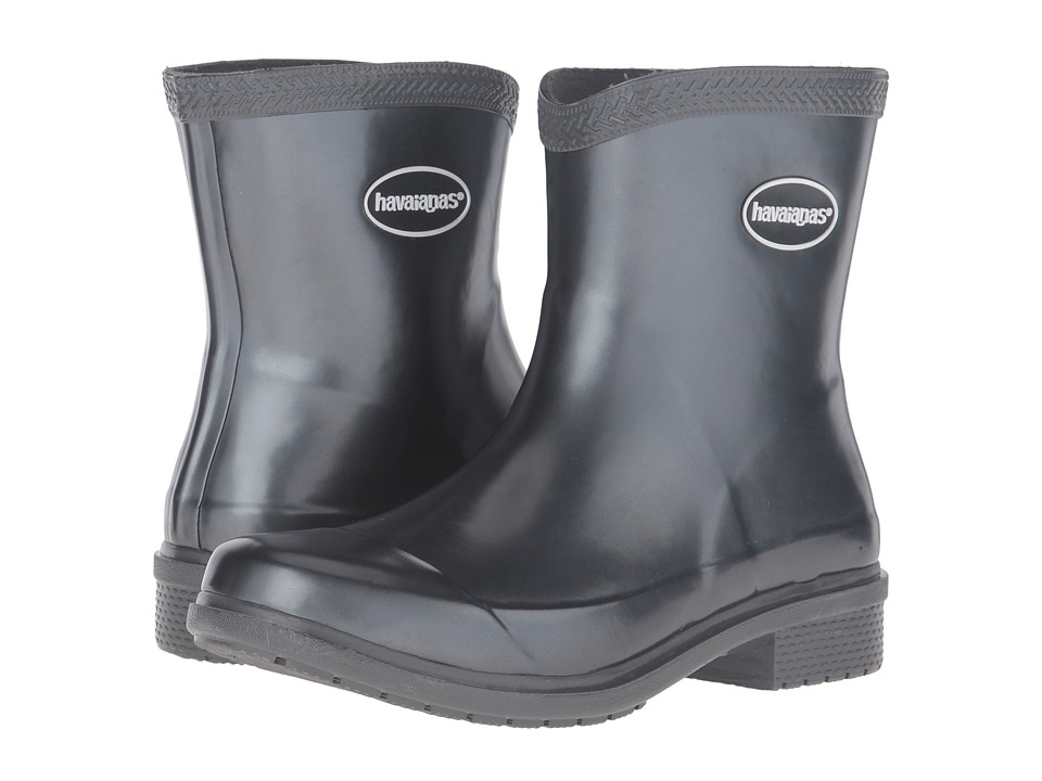 Havaianas - Galochas Low Metallic Rain Boot (Dark Grey Metallic) Women's Rain Boots