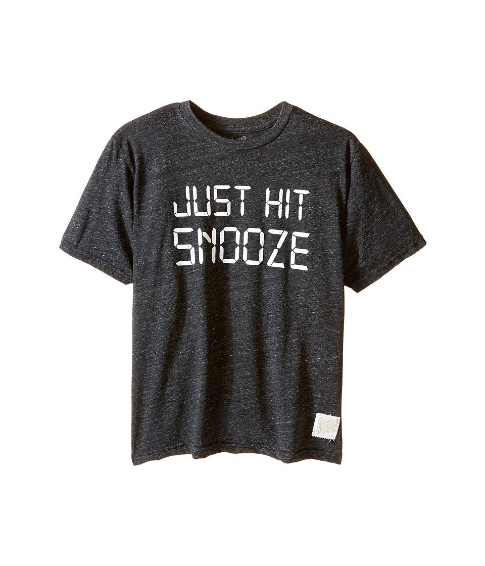 The Original Retro Brand Kids - Just Hit Snooze Tri-Blend Short Sleeve Tee (Little Kids/Big Kids) (Streaky Black) Boy's T Shirt