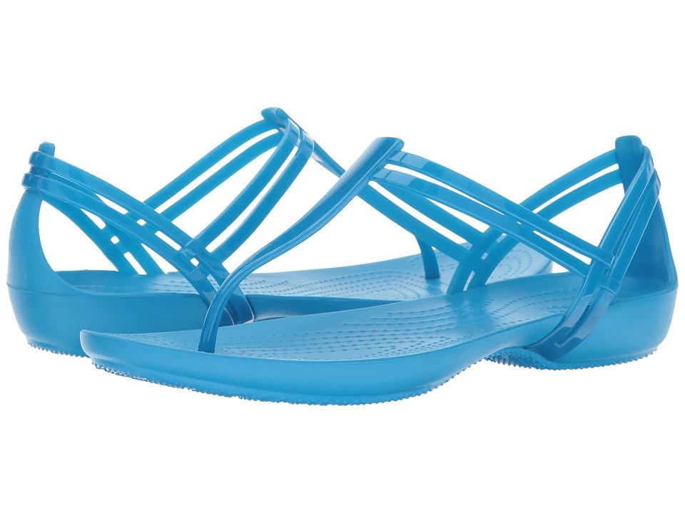 Crocs Isabella T-Strap (Blue) Women