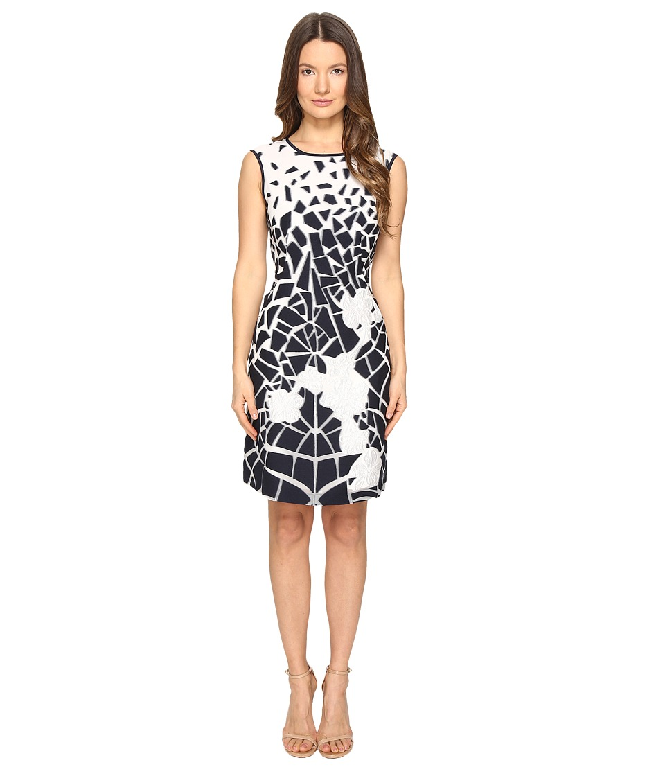 Alberta Ferretti Sleeveless Dress (Blue/White) Women