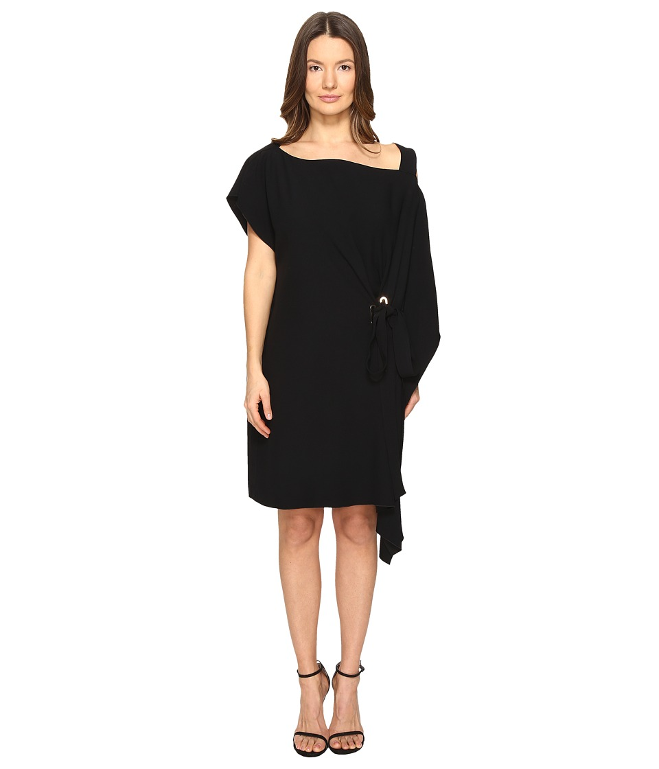 Alberta Ferretti Draped One Shoulder Dress (Black) Women