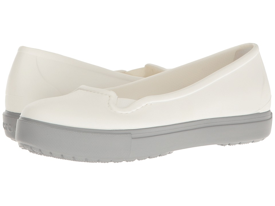 Crocs - CitiLane Flat (White) Women's Flat Shoes