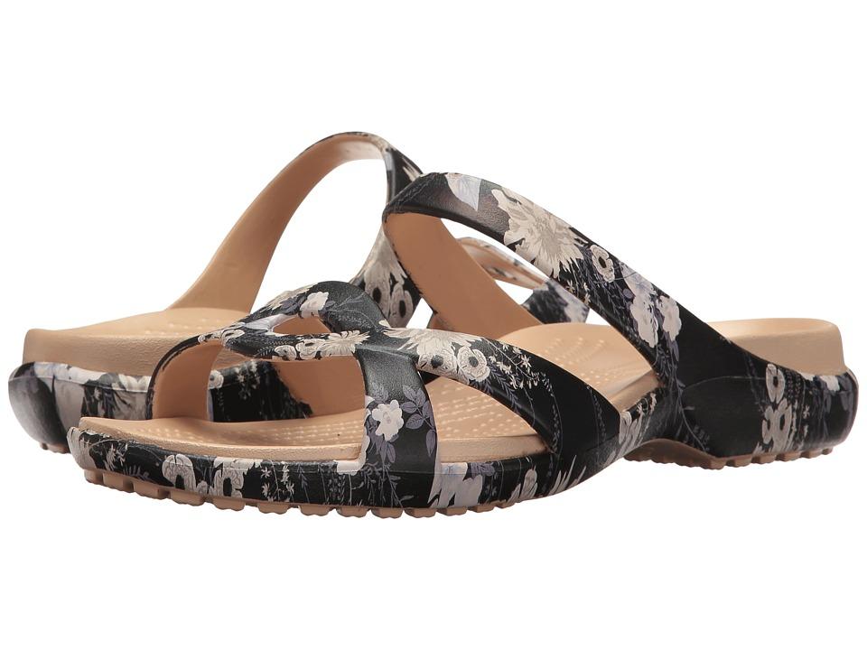 Crocs - Meleen Twist Graphic Sandal (Black/Floral) Women's Sandals