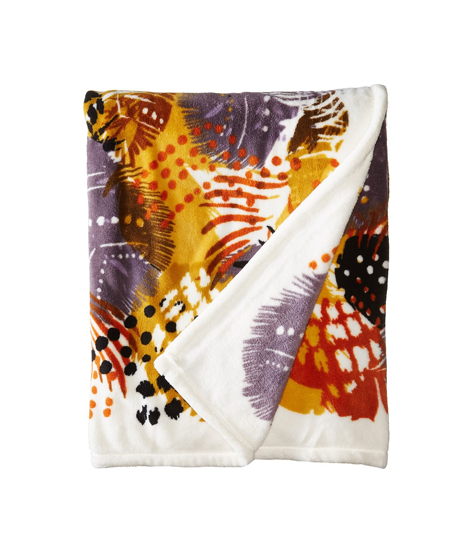 Vera Bradley - Throw Blanket (Painted Feathers) Blankets