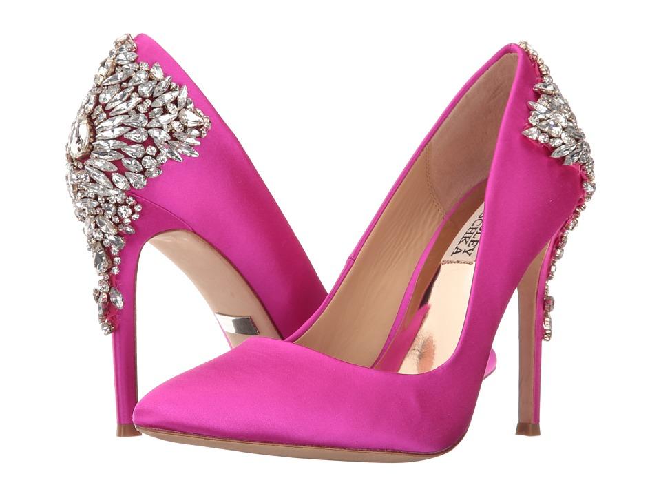 Badgley Mischka - Gorgeous (Carmine Pink Satin) High Heels