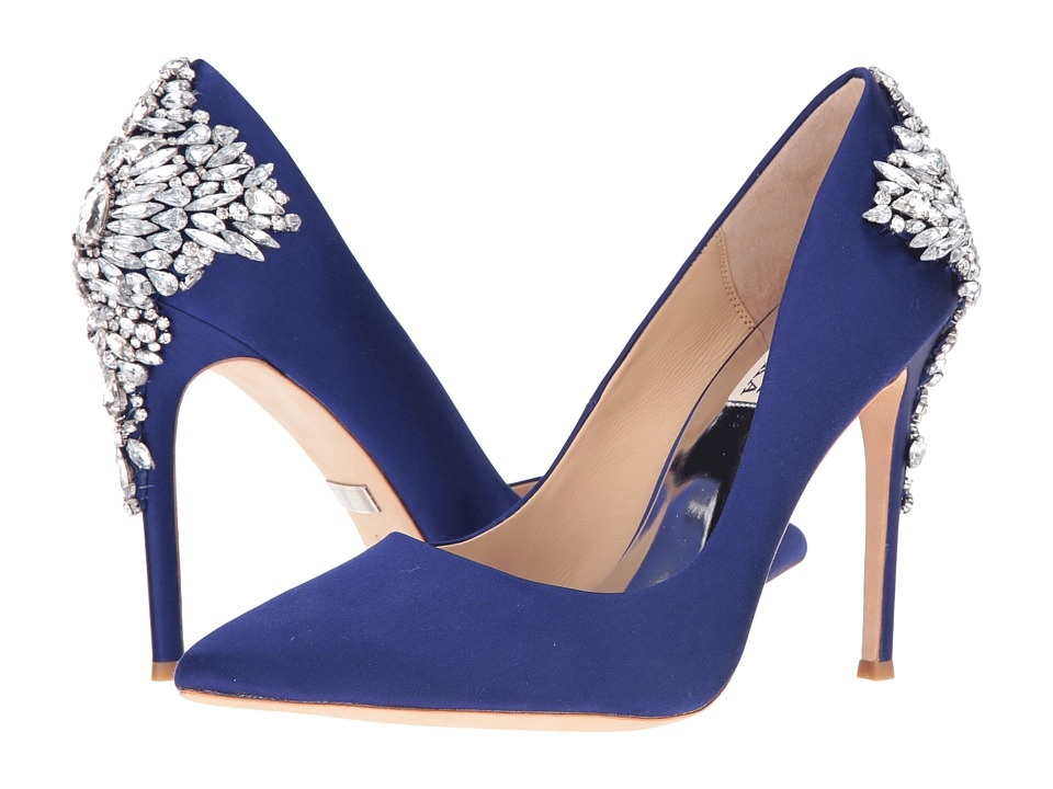 Badgley Mischka - Gorgeous (Indigo Satin) High Heels