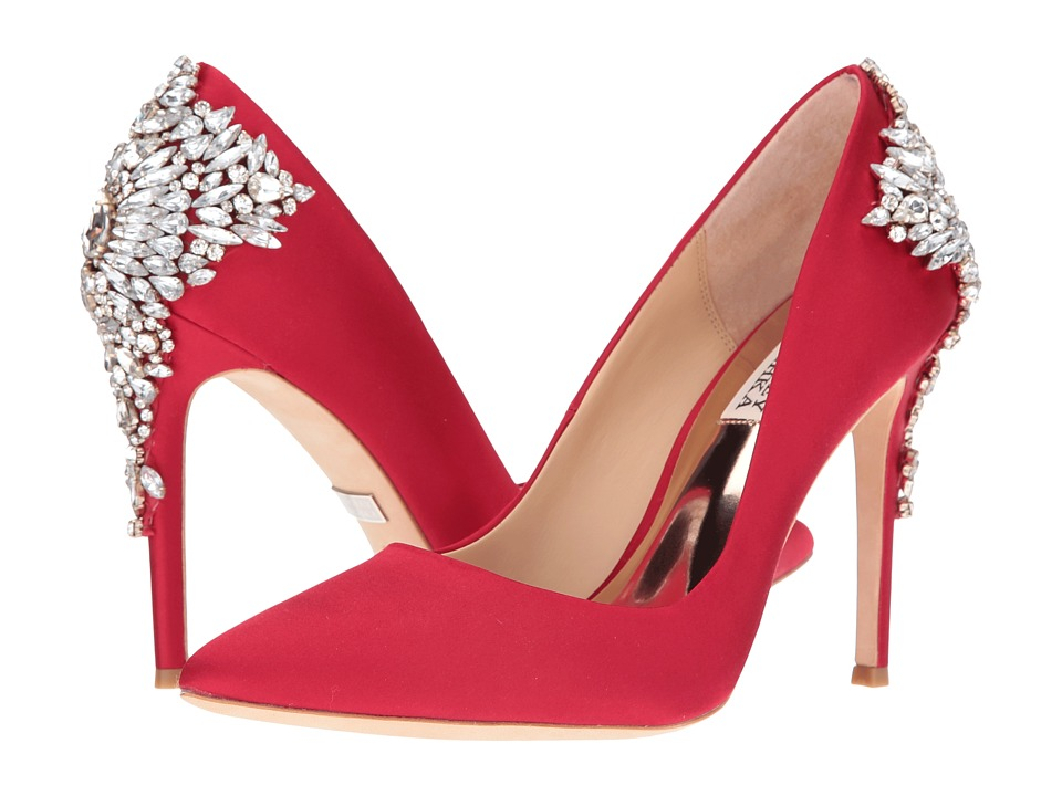 Badgley Mischka - Gorgeous (Red Satin) High Heels