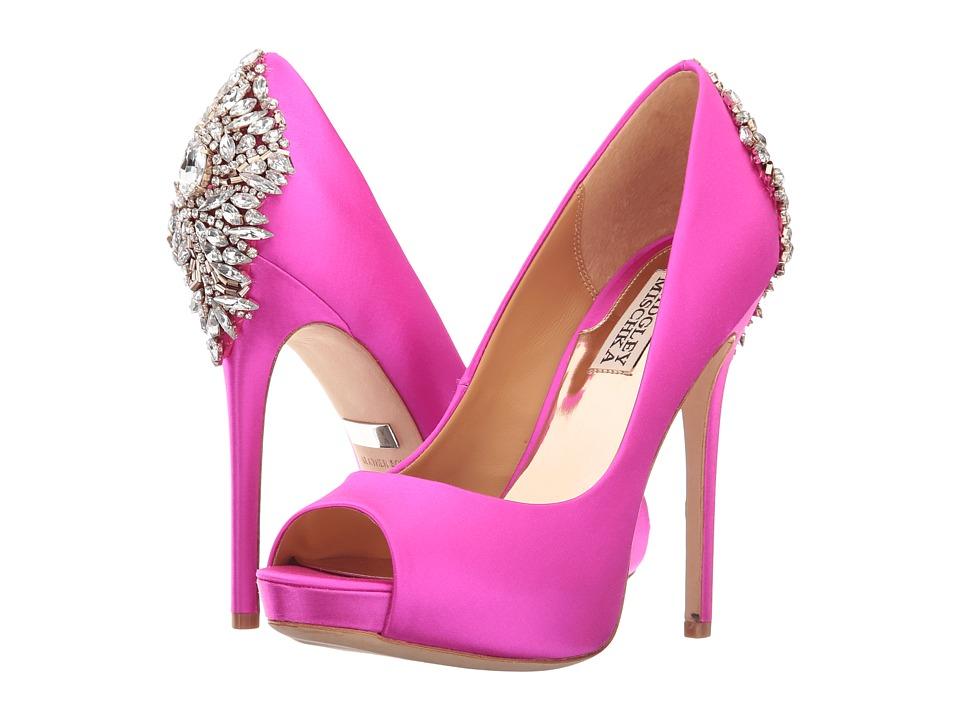 Badgley Mischka Kiara (Carmine Pink Satin) High Heels