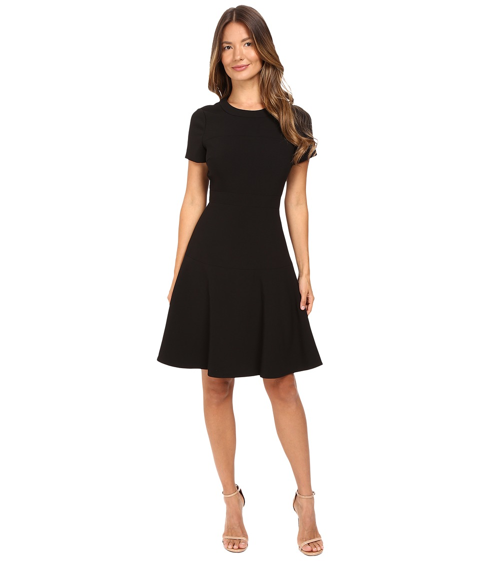 Kate Spade New York - Crepe Flip Dress (Black) Women's Dress