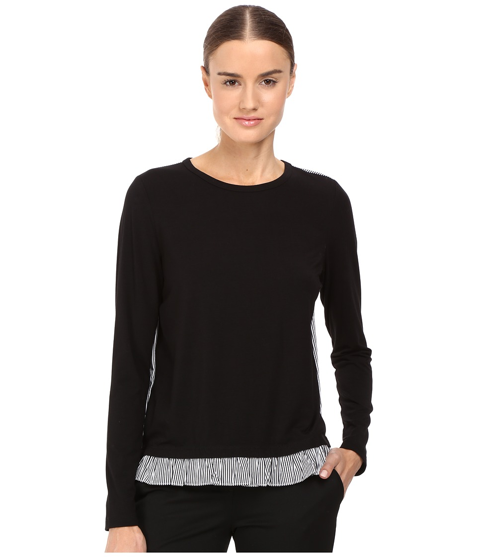 Kate Spade New York - Mini Ruffle Top (Black) Women's Long Sleeve Pullover