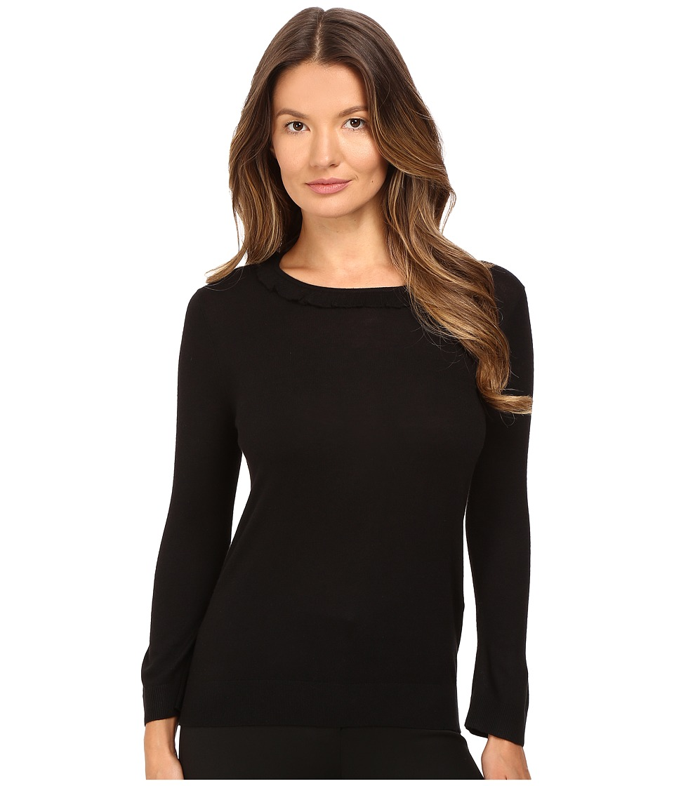 Kate Spade New York - Frill Neck Sweater (Black) Women's Sweater